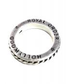 ROYAL ORDER(ロイヤル・オーダ)の古着「ROMAN SPACER RING」|シルバー