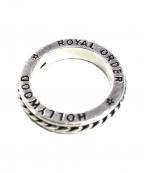 ROYAL ORDER(ロイヤルオーダー)の古着「ROMAN SPACER RING」 シルバー