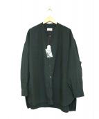 GALLEGO DESPORTES(ギャレゴデスポート)の古着「バンドカラーシャツ」 グリーン