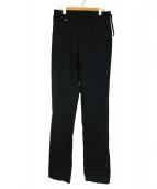 KRIS VAN ASSCHE(クリスヴァンアッシュ)の古着「センタープレスパンツ」 ブラック