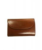 Whitehouse Cox(ホワイトハウスコックス)の古着「フラップ2ツ折財布」 TAN