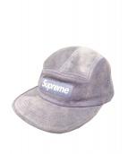 SUPREME(シュプリーム)の古着「Suede Camp Cap」|パープル