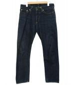 JAPAN BLUE(ジャパンブルー)の古着「14oz ジンバブエxメンフィス綿 ヴィンテージセルヴィッチ」 インディゴ