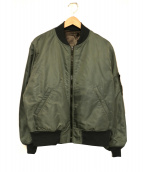 UNUSED(アンユーズド)の古着「MA-1ジャケット」|オリーブ