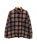 SUPREME()の古着「Quilted Faded Plaid Shirt」