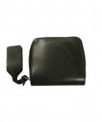 Acne studios(アクネステュディオズ)の古着「ラウンドジップ2つ折財布」|ブラック