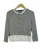 Rene(ルネ)の古着「スカラップカーディガン」|グレー