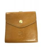 IL BISONTE(イルビゾンテ)の古着「がま口財布」|キャメル
