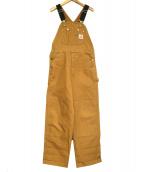 CarHartt(カーハート)の古着「DUCK BIB OVERALLS」|ブラウン