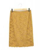 COUP DE CHANCE(クードシャンス)の古着「総レースタイトスカート」|ブラウン
