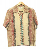SUN SURF(サンサーフ)の古着「SHORT SLEEVE RAYON ALOHA SHIRT」|ベージュ