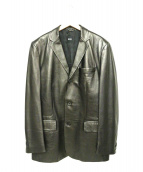 HUGO BOSS(ヒューゴボス)の古着「レザージャケット」|ブラック