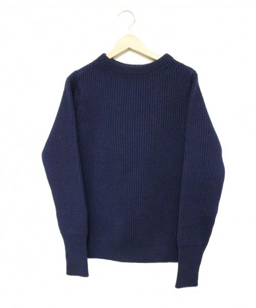 Andersen-Andersen(アンデルセン アンデルセン)Andersen-Andersen (アンデルセンアンデルセン) NAVY CREWNECK Knit ネイビー サイズ:XS 参考定価45,000円+税程の古着・服飾アイテム