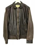 AVIREX(アヴィレック)の古着「レザージャケット」|ブラウン