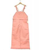 Dickies × Little sunny bite(ディッキーズ × リトルサニーバイト)の古着「フリルオーバーオール」|ピンク