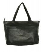MARGARET HOWELL idea(マーガレットハウエルアイデア)の古着「レザートートバッグ」|ブラック