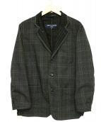 COMME des GARCONS HOMME(コムデギャルソンオム)の古着「チェックジャケット」|グレー