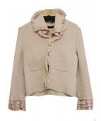 COTOO(コトゥ)の古着「ニットジャケット」|ピンク