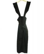 MS GRACY(エムズグレイシー)の古着「サロペット」|ブラック