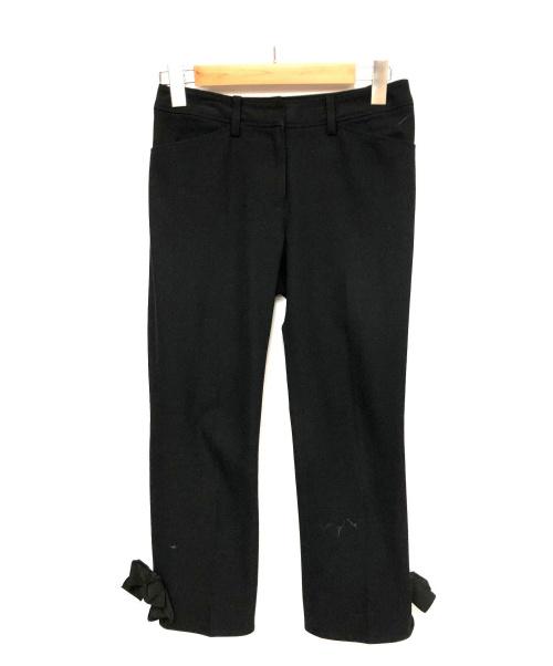 MS GRACY(エムズグレイシー)MS GRACY (エムズグレイシー) アンクルリボンパンツ ブラック サイズ:36の古着・服飾アイテム