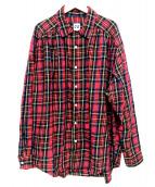 AiE(エーアイイー)の古着「オープンカラーチェックシャツ」|レッド