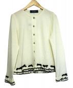 MS GRACY(エムズグレイシー)の古着「フリルリボンカーディガン」|ホワイト