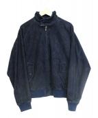 3/8 per plage(プラージュ)の古着「レザージャケット」 ネイビー
