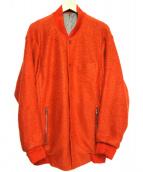 Paul Smith(ポールスミス)の古着「モヘヤ混ウールブルゾン」|オレンジ