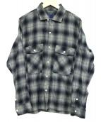RHC Ron Herman×LIBERAIDERS(アールエイチシー ロンハーマン×リベレイダース)の古着「チェックシャツ」|グレー×ネイビー