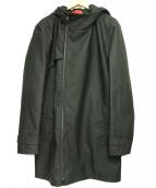 HUGO HUGO BOSS(ヒューゴヒューゴボス)の古着「ウォータープルーフフーデッドコート」|ブラック