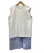 MM6(エムエムシックス)の古着「ドッキングワンピース」|ホワイト×グレー