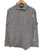 Paul Smith(ポールスミス)の古着「ギンガムチェックシャツ」 ネイビー×ホワイト