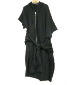 LIMI feu(リミフゥ)の古着「パーカーワンピース」|ブラック