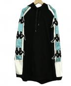 KAPPA(カッパ)の古着「スウェットフーディ」|ブラック
