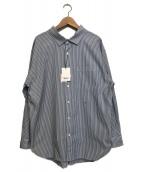 Gymphlex(ジムフレックス)の古着「ストライプシャツ」 ブルー