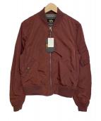 ALPHA(アルファ)の古着「MA-1ジャケット」|ボルドー