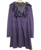 COTOO(コトゥー)の古着「フリルワンピース」|パープル