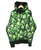 Supreme(シュプリーム)の古着「Skull Pile Hooded Sweatshirt」|ブラック×グリーン