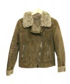 REBECCA CORSI(レベッカ コルシ)の古着「シープレザージャケット」|ブラウン