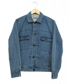 BLUE BLUE(ブルーブル)の古着「インディゴ染デニムジャケット」|ネイビー