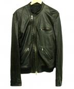 THE VIRIDI-ANNE(ザビリシアン)の古着「ディアスキンライダースジャケット」 ブラック