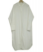Noble(ノーブル)の古着「ロングシャツワンピース」|ホワイト