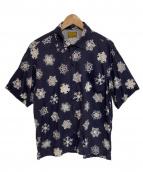 BROWN by 2-tacs(ブラウン バイ ツータックス)の古着「開襟アロハシャツ」|パープル
