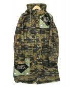 UNDERCOVER(アンダーカバー)の古着「クリーミィマミカモフラモッズコート」|ブラウン