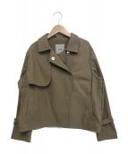 LEILIAN(レリアン)の古着「トレンチ風ショートジャケット」|ベージュ
