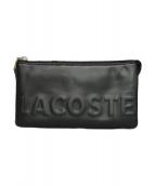 LACOSTE(ラコステ)の古着「ロゴマニアショルダーウォレット」|ブラック
