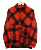 FILSON GARMENT(フィルソンガーメント)の古着「ダブルマッキーノ クルーザー」|レッド×ブラック