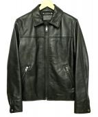COACH(コーチ)の古着「カウレザーシングルライダースジャケット」|ブラック