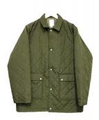 THE NERDYS(ザナーディーズ)の古着「キルティングハーフコート」|グリーン