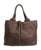 CAMPER(カンペール)の古着「レザートートバッグ」|ブラウン